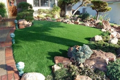 front yard synthetic grass
